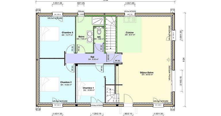 Plan Maison Boucheuse