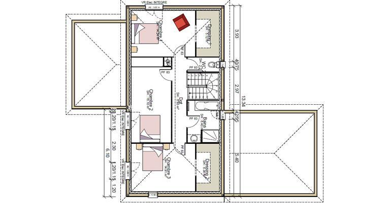 Plan maison Brezons