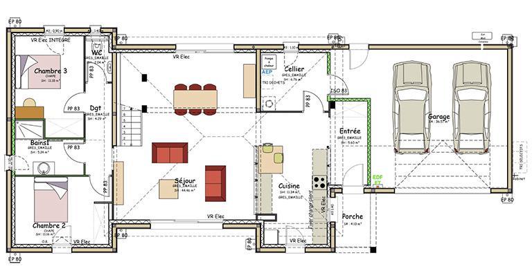 Plan maison diege