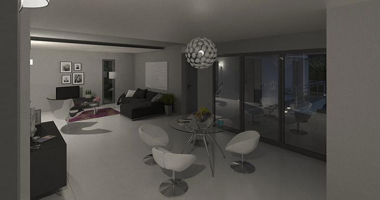 maison nuejouls intérieur by night