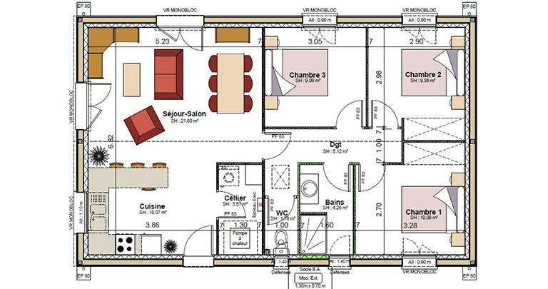 Plan Maison Ouysse