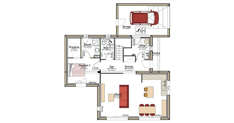 plan maison rance