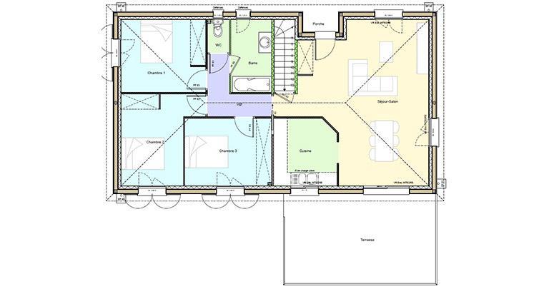 Plan Maison Vezere